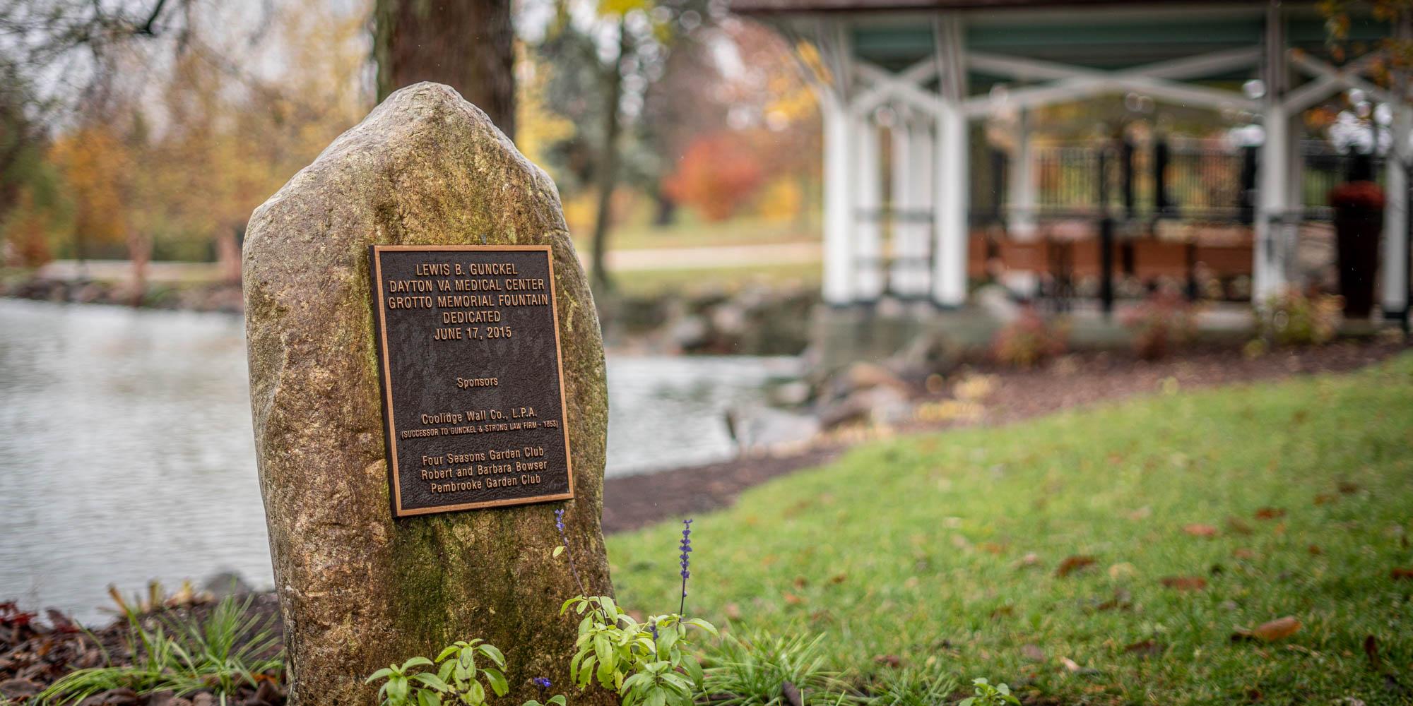 Dayton VA fountain, Coolidge Wall